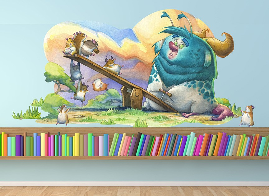 Monster in the Park Wall Decal
