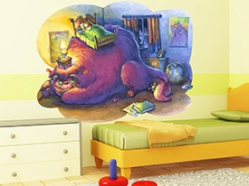 Bedtime Monster Wall Decal