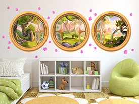 Enchanted Forest Window Wall Decal Set