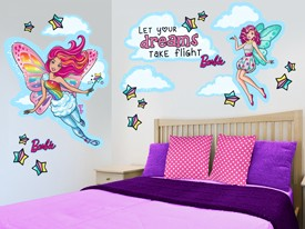 Barbie Fairy Wall Decal Set