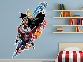 Batman v Superman Rip Wall Decal