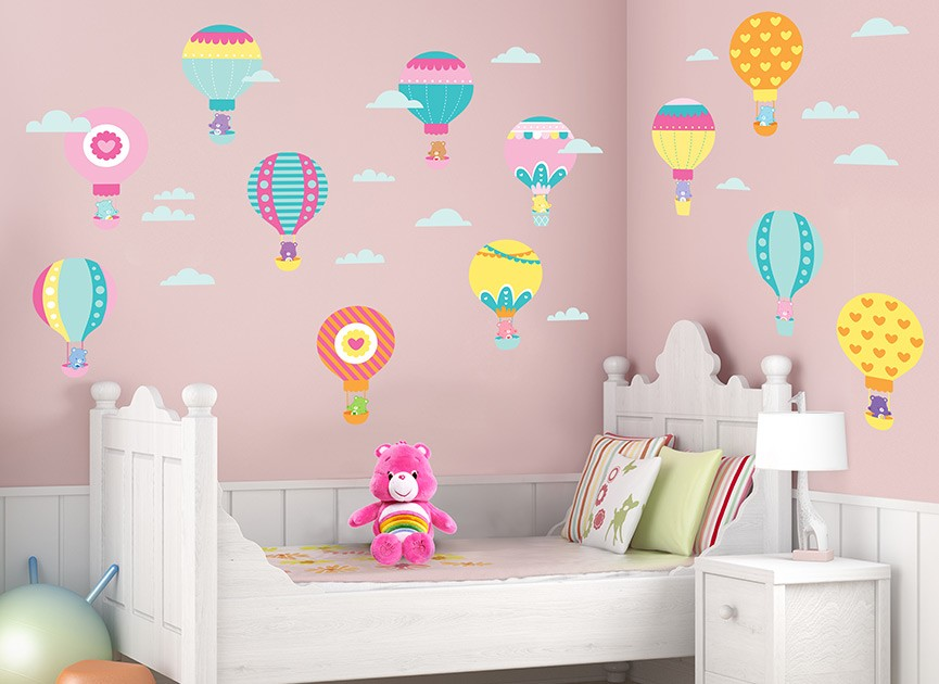 Care Bears Babies Balloon Wall Decals