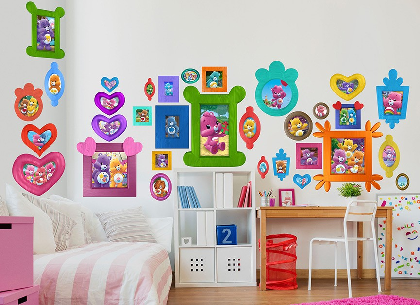 Wall decals and wall graphics shop wall ah for Care bears wall mural