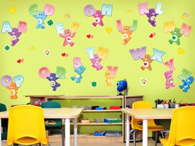 Care Bears Alphabet Wall Decals