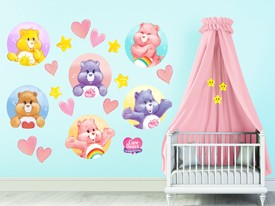 Care Bears Hearts & Stars Wall Decal Set
