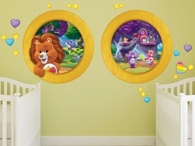 Share Bear & Cousins Window Wall Decal
