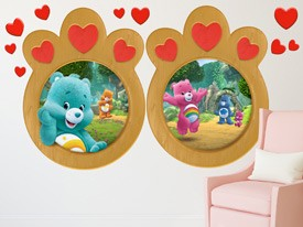 Wish Bear Heart Window Wall Decals