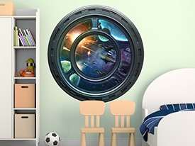 Spaceship Porthole Wall Decal