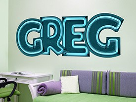 Customizable Neon Font Wall Decals