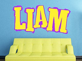 Customizable Urban Graffiti Font Wall Decals
