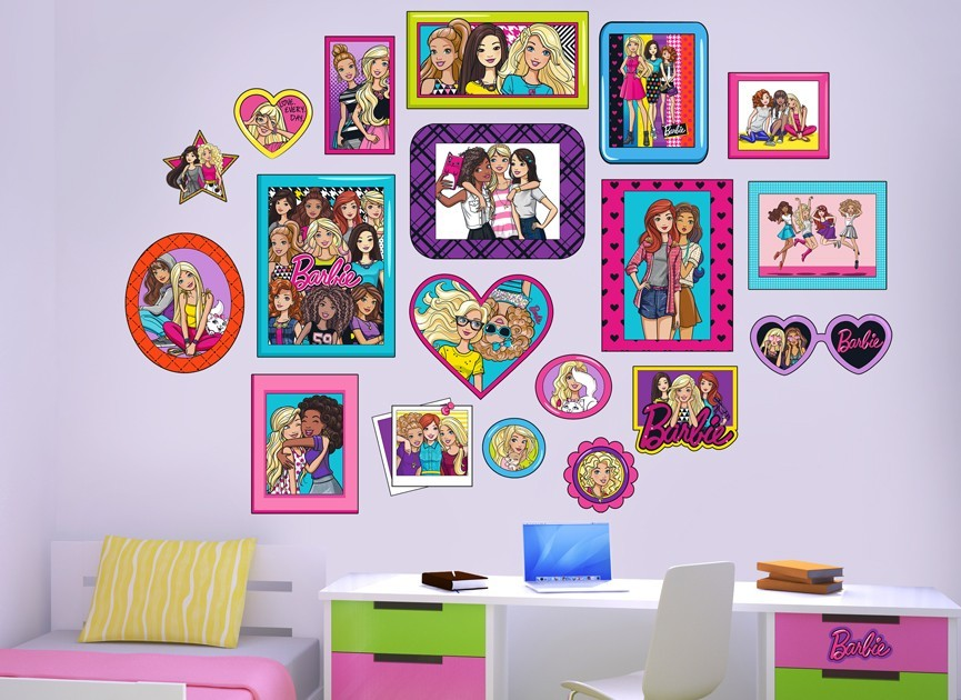 Barbie photo album wall decal set for Barbie wall mural