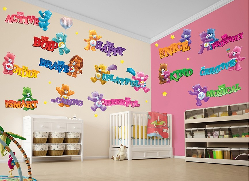 Care bears motivational wall decals for Care bears wall mural