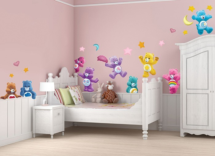 Care bears fun wall decals for Care bears wall mural