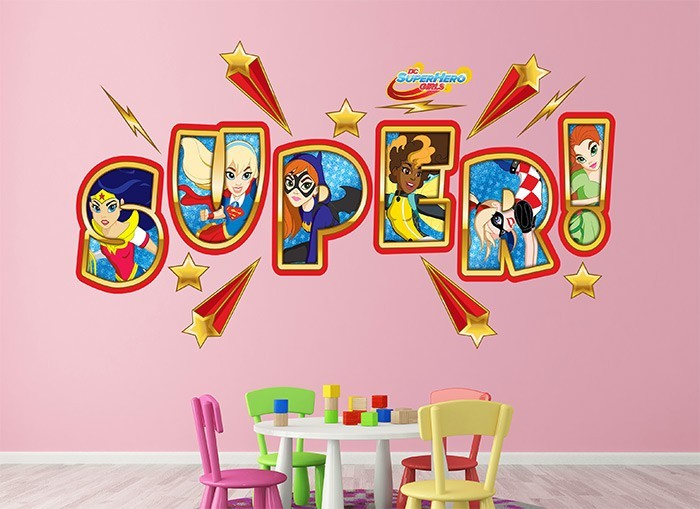 dc super hero girls wall decal pics photos super hero wall decals super hero wall