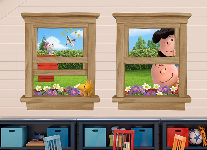 Charlie Brown Amp Snoopy Window Wall Decals