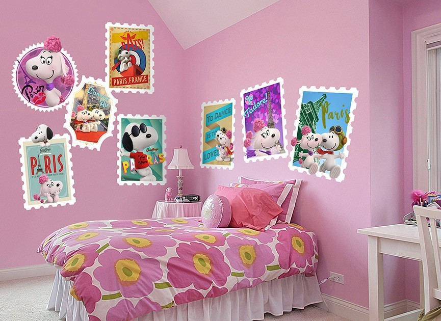 Snoopy Amp Fifi Stamps Wall Decals