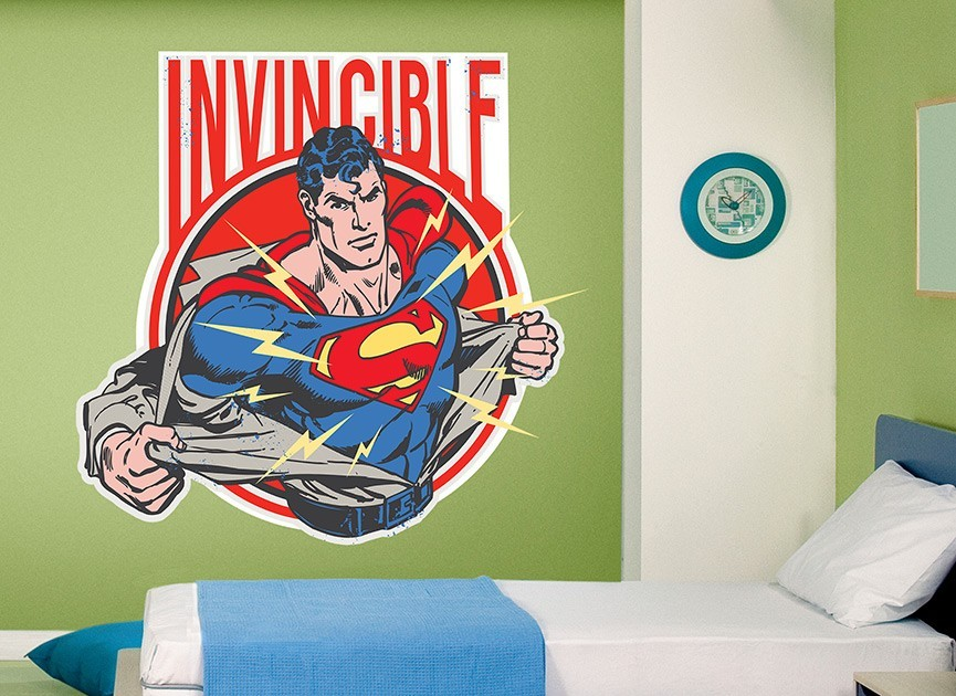 Superman invincible wall decal for Superman wall decal