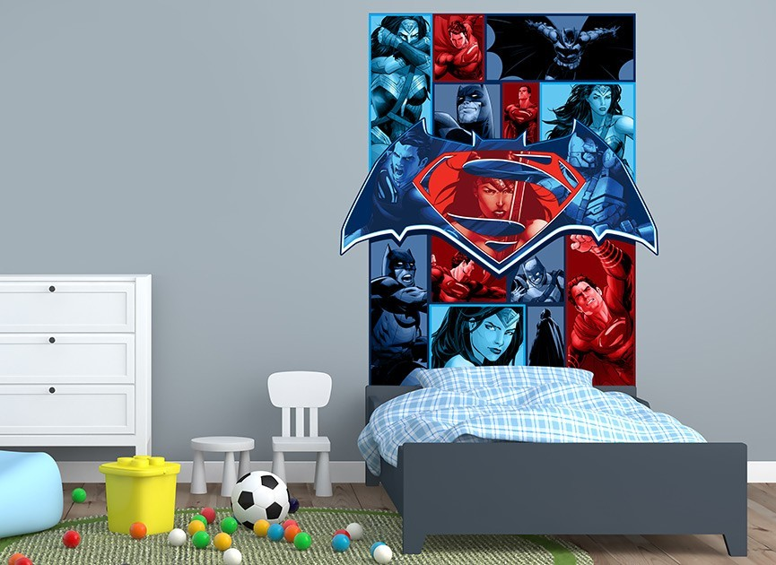 Batman vs Superman Graphic Headboard Wall Decal