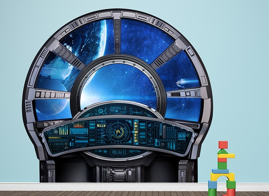 Spaceship Control Window Wall Decal