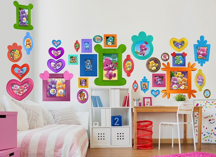 Care bears frames wall decals for Care bears wall mural