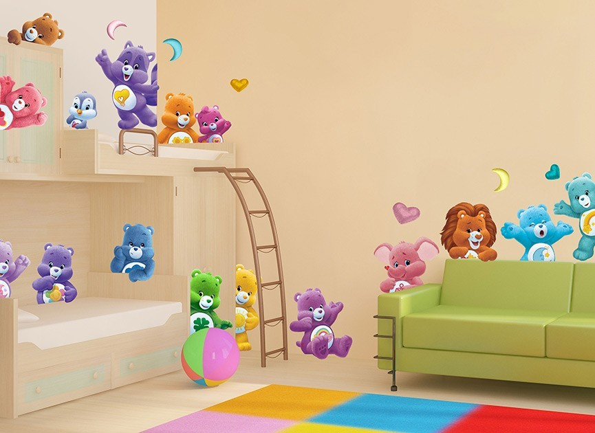Care bears and cousins wall decals for Care bears wall mural