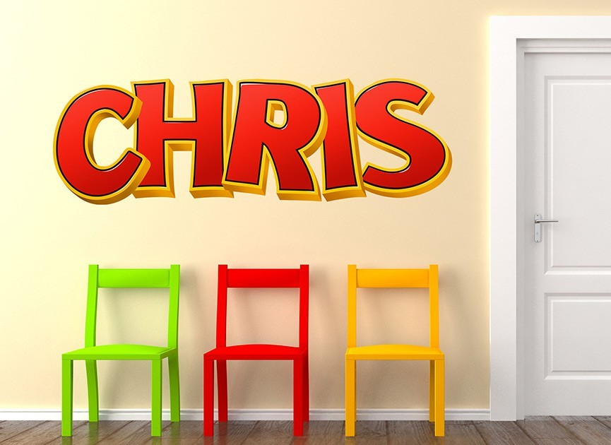 Customizable Bonkers Font Wall Decals