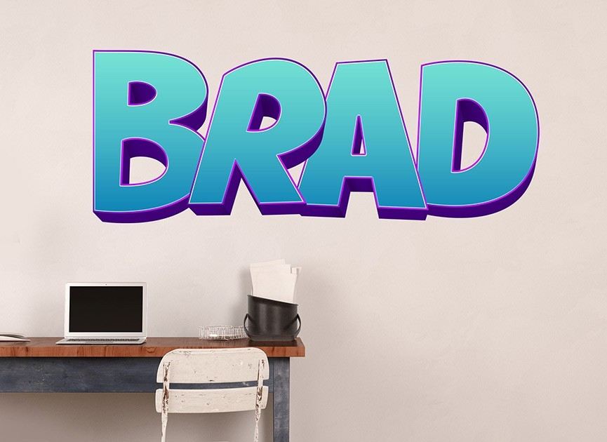Customizable Comic Book Font Wall Decals
