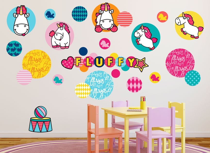 Fluffy Patches Wall Decal Set