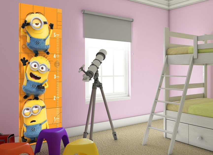 Minions Growth Chart Wall Decal 2