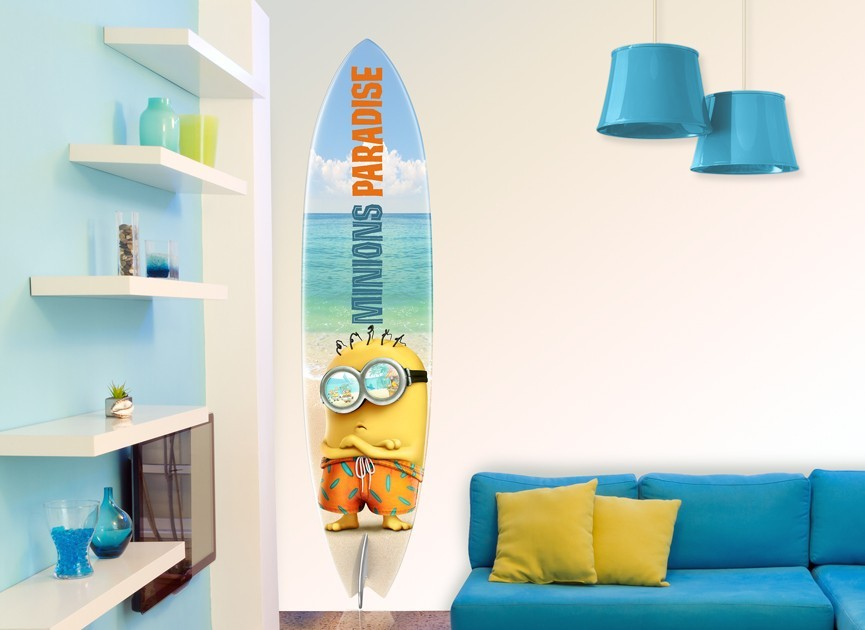 Minions Paradise Surfboard Wall Decal