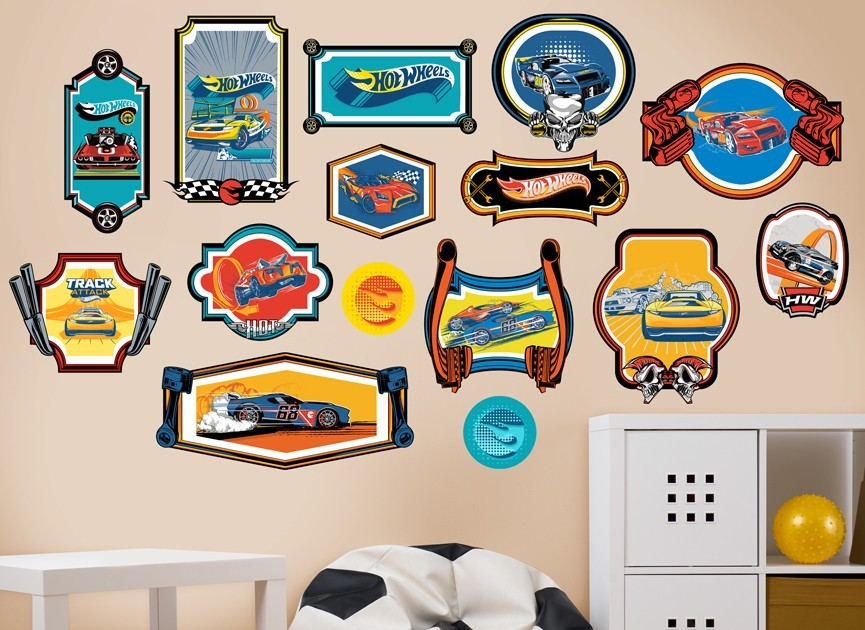 Perfect Hot Wheels Framed Car Wall Decal