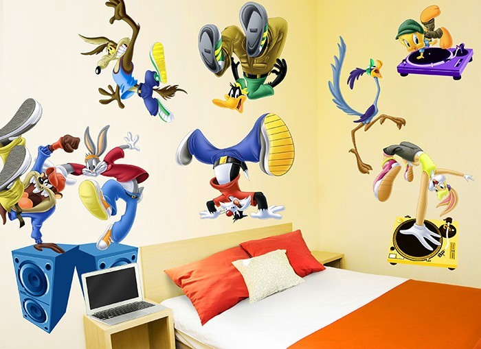 looney tunes wall stickers looney tunes kids buy cheap looney tunes wall sticker children s bedroom wall sticker