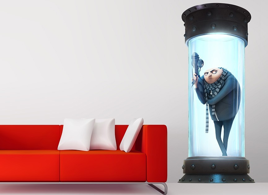 Gru's Lab Elevator Wall Decal