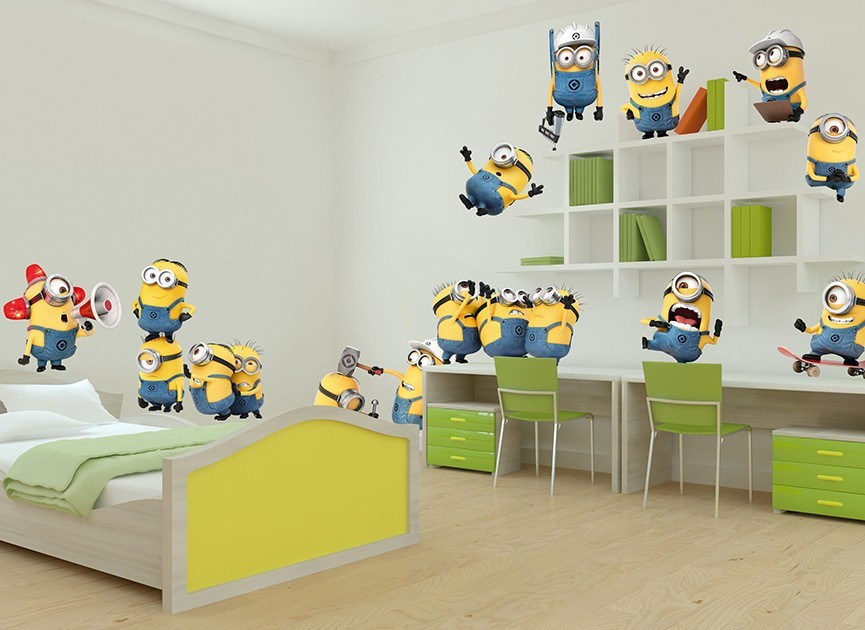 Minions Construction Site Wall Decals - Minion wall decals