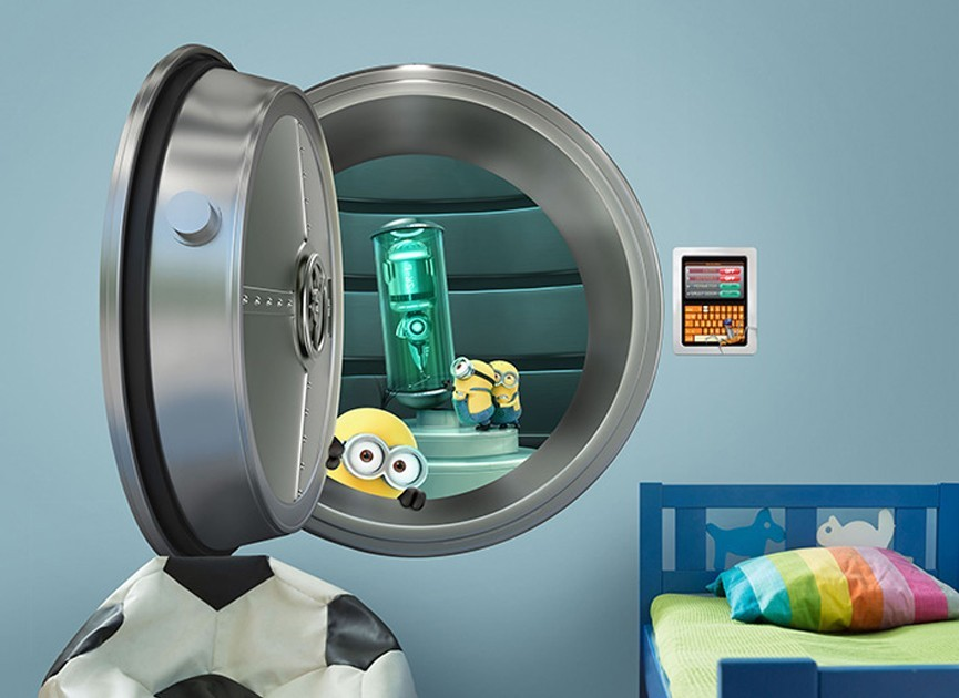 Minions Steal Shrink Ray Wall Decal