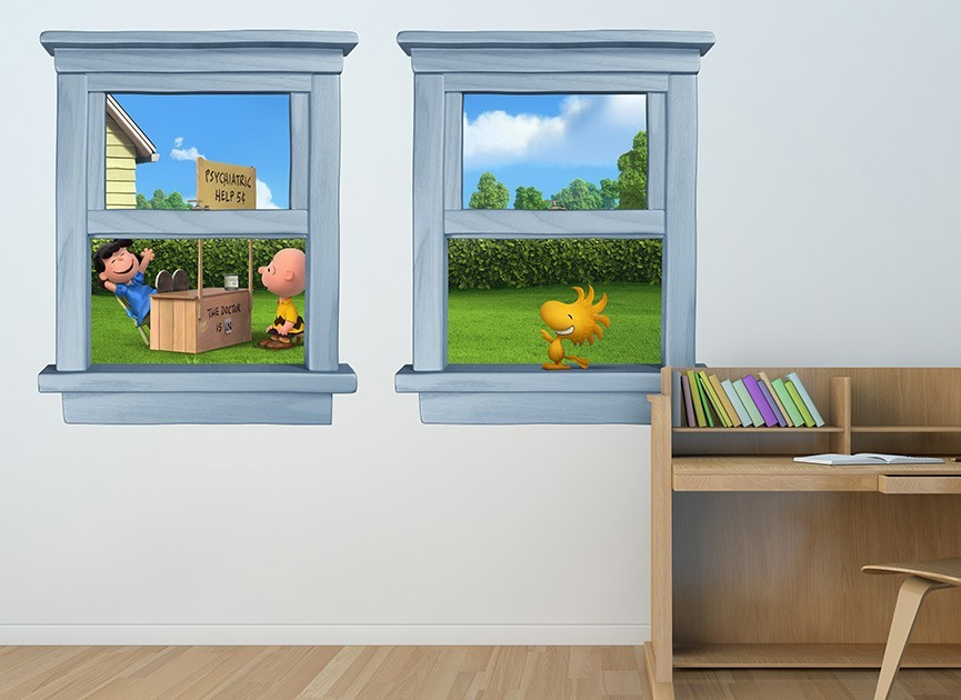 Dr. Lucy Window Wall Decals