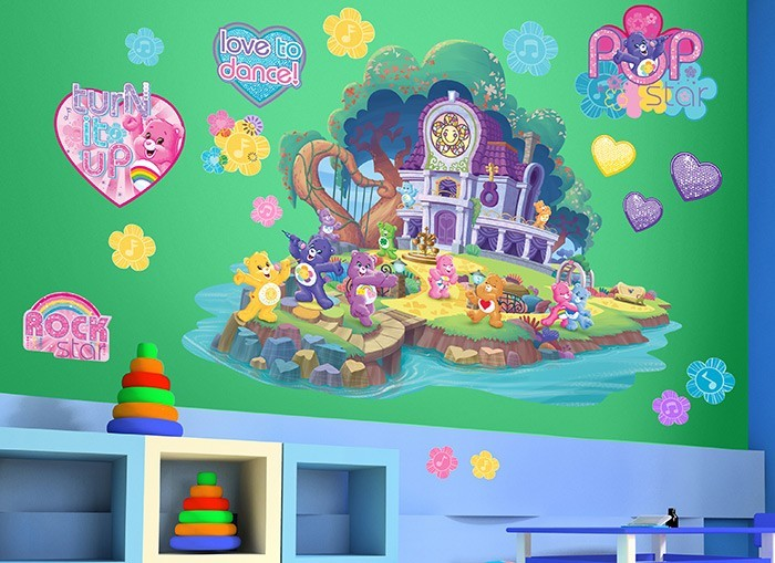 Care bears island wall decals for Care bears wall mural