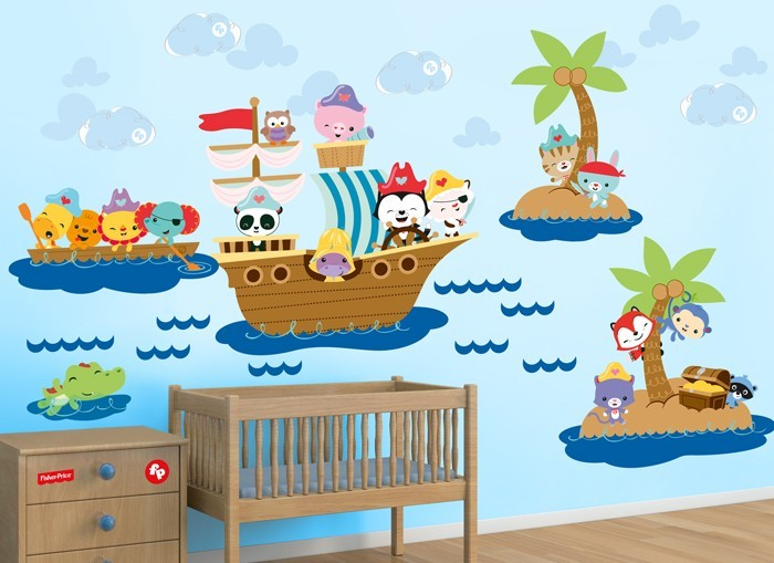 fisher price pirate wall decals fisher price ocean wonders wall stickers walmart com