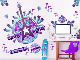 Daisy Rock Rock Star Wall Decal