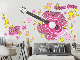 Daisy Rock Groovy Pink Wall Decal