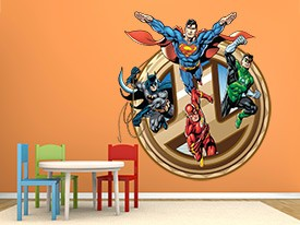 Justice League Gold Medallion Wall Decal