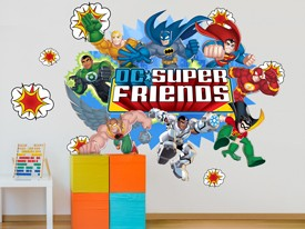DC Super Friends Action Wall Decals