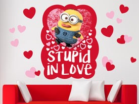 Minions Stupid in Love Wall Decal