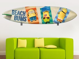 Minions Surfboard Wall Decal