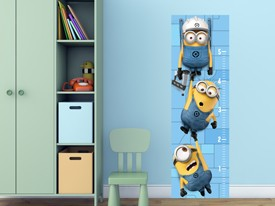 Minions Growth Chart Wall Decal
