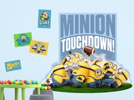 Minions Football Wall Decal
