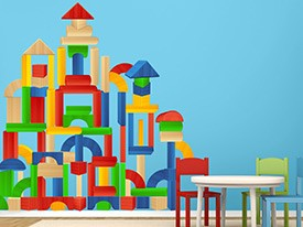 Extra Building Blocks Wall Decals