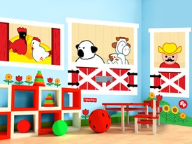 Fisher-Price Barn Window Wall Decals