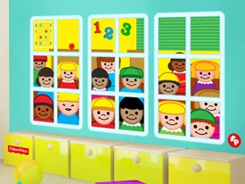Fisher-Price School Window Wall Decals