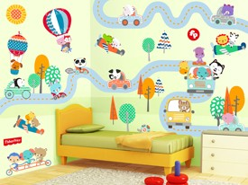 Fisher-Price Traveling Animal Wall Decals